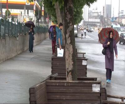 İstanbul'da beklenen sağanak yağış başladı