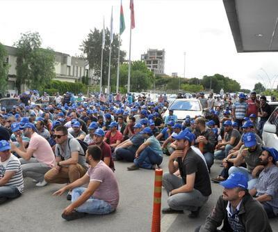 Petkim'de işçilerden oturma eylemi