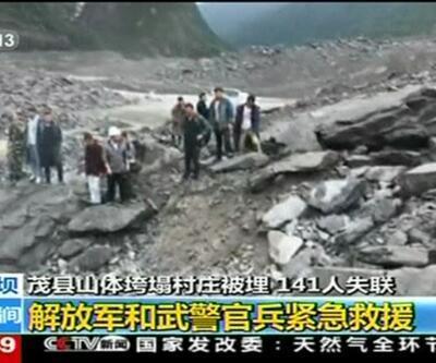 Çin'de toprak kayması: 140 kişi enkaz altında kayboldu