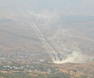 Derecik'te PKK hedeflerine top atışı