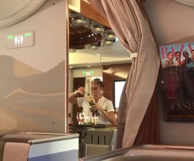 Emirates hostesinin bu görüntüleri çok konuşuldu!
