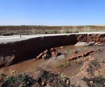 Suruç Ovası'ndaki bilinçsiz sulama nedeniyle yollar çöktü