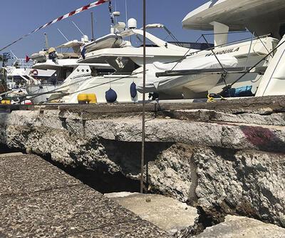 Kos'tan gelen görüntüler depremin şiddetini gözler önüne serdi