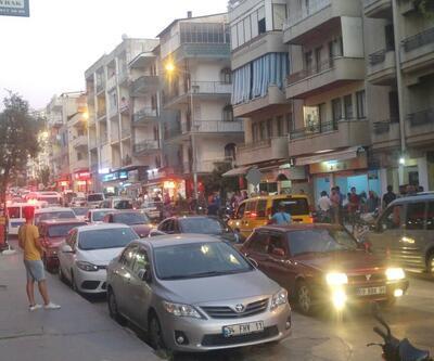 Kuşadası'nda sokak ortasında tekmeli, yumruklu ve sopalı kavga
