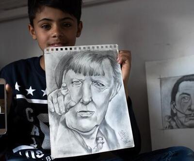 O mülteciye Avrupa'da 'Küçük Picasso' diyorlar!