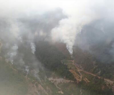 Amanos Dağları'nda orman yangını