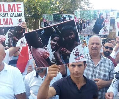 Bursa, Arakan Müslümanları için sokağa döküldü