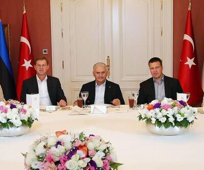 Başbakan Yıldırım mevkidaşlarını İstanbul'da ağırladı