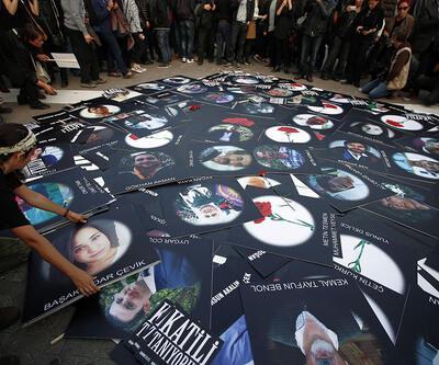 10 Ekim'de öldürülenler katliamın 3. yılında Ankara Garı önünde anıldı