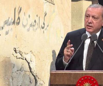 Cumhurbaşkanı Erdoğan'ın sözlerini Kerkük'te duvarlara yazdılar