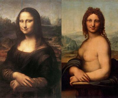 Mona Lisa'nın taslağı nü olarak yapılmış