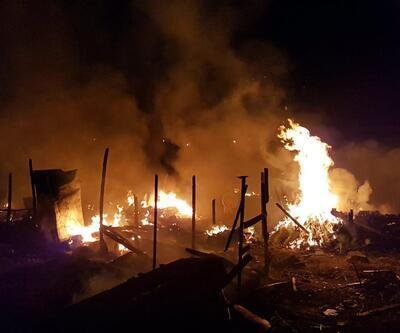 Kayseri'de çadırlar kundaklandı