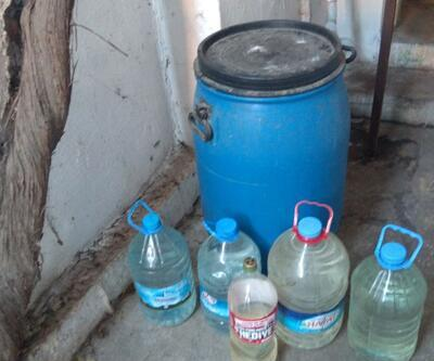 380 litre kaçak rakı ele geçirildi