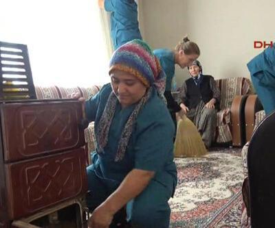 Edirne'de yaşlı evlerine temizlik projesi hayata geçirildi