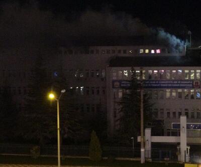 Jandarma komutanlığında yangın çıktı
