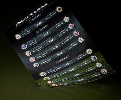 Süper Lig'de 11. hafta programı