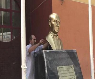 Atatürk heykelini kıran şüpheli şizofreni hastası çıktı