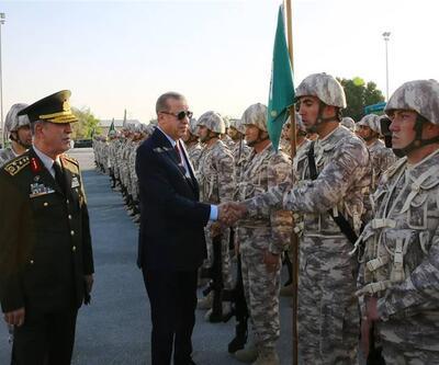 Cumhurbaşkanı Erdoğan, Katar TSK Kara Unsur Komutanlığı'nı ziyaret etti