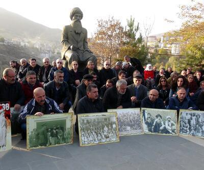 Tunceli'de Seyit Rıza ve arkadaşları için sessiz protesto