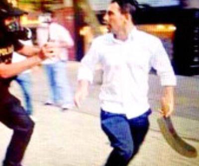 Gezi Parkı'ndaki palalı saldırgan ayağından vuruldu