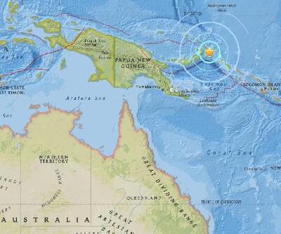 Son dakika: Papua Yeni Gine'de deprem