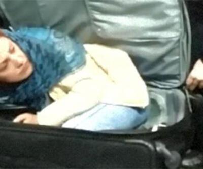 Valiz içinde Türkiye'ye girmeye çalıştı