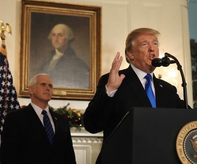 Son dakika... Donald Trump: Kudüs'ü İsrail'in başkenti olarak tanıyoruz