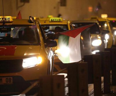 Kamyoncular ve taksiciler ABD başkonsolosluğu önünde eylem yaptı