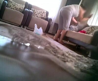 Annenin 2 yaşındaki kızını darp ettiği anlar, gizli kamerayla kaydedildi