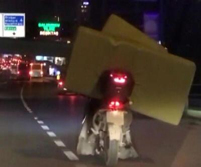 Motosikletle koltuk taşıdı