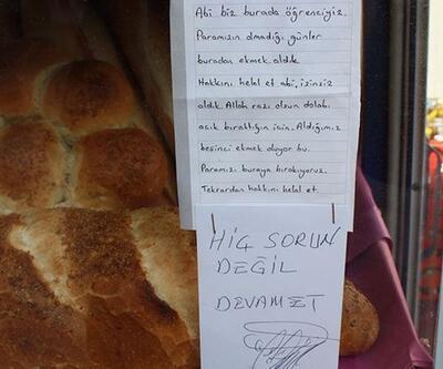 Dolaptan izinsiz ekmek alan gençlerle bakkalın duygu yüklü yazışması...