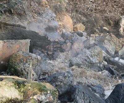 Kimyasal atıklar Sakarya Nehri'ni siyaha boyadı