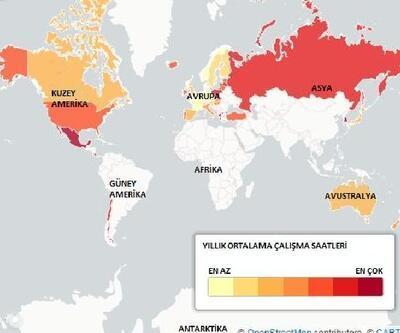 İşte ülkelere göre çalışma saatleri