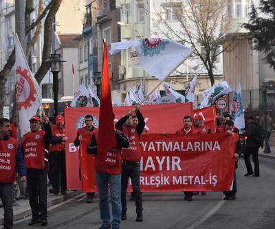 Metal işçilerinden toplu sözleşme eylemi