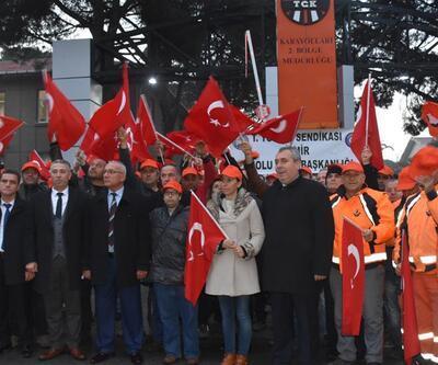 Karayolları işçilerinden taşeron eylemi
