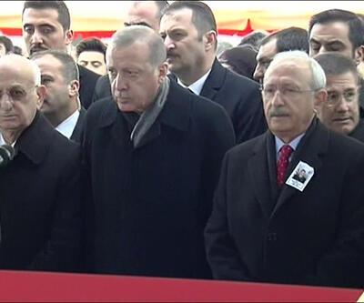 Erdoğan ve Kılıçdaroğlu şehidin cenazesinde yan yana geldi