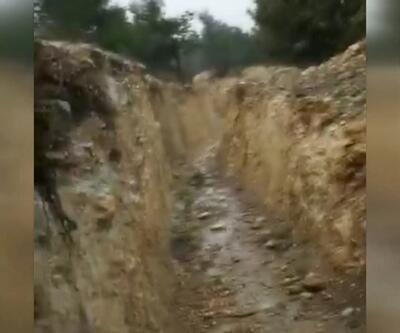 Afrin'de PYD/PKK'lı teröristlerin mevzileri görüntülendi