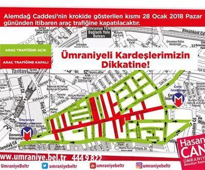 Ümraniye Alemdağ Caddesi trafiğe kapatılıyor
