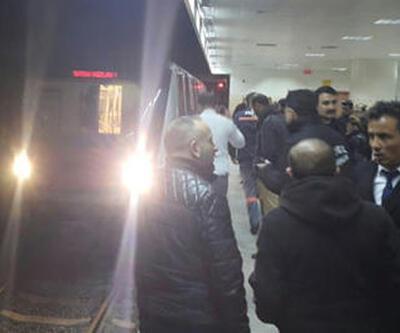 Ankara Metrosu'nda korku dolu anlar: Genç kız raylara düştü