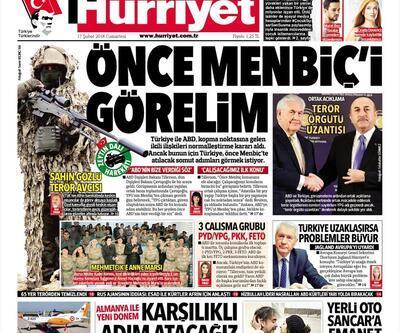 17 Şubat 2018 - Gazete manşetleri