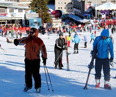 Kayak merkezlerine yoğun ilgi