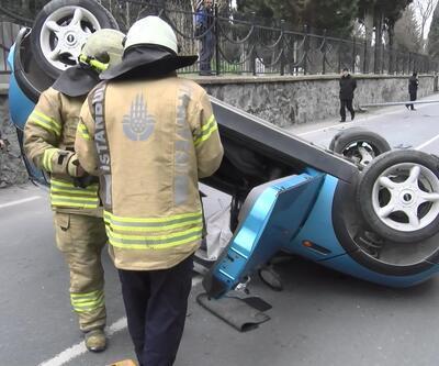 Zeytinburnu'nda korkutan kaza