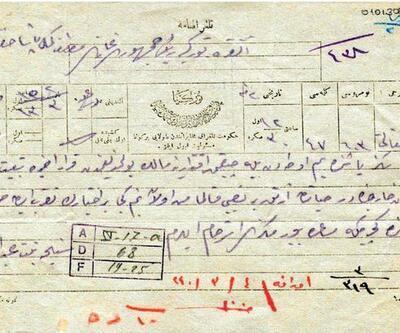 Abdülhamid'in kız kardeşinin Mustafa Kemal Atatürk'e telgrafı