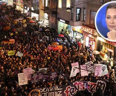 8 Mart yürüyüşünde Hülya Avşar da unutulmadı!