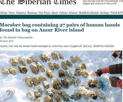 Sibirya'da bulunan 54 kesik elin sırrı çözüldü