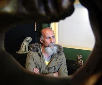 Sığınmacı heykeltıraş Şanlıurfa'da sergi açtı