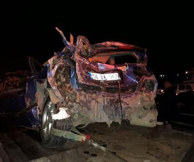 TEM'de zincirleme kaza: 7 araç birbirine girdi