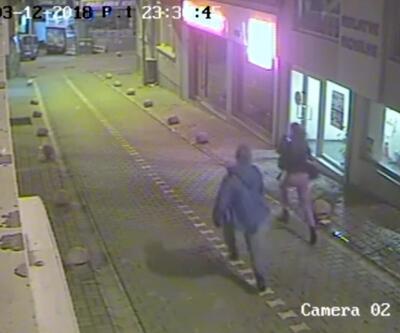 Silahlı gaspçı üniversiteli  genç kızı yerde sürükledi
