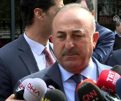 Bakan Çavuşoğlu, Hasan Celal Güzel için taziye ziyaretinde bulundu