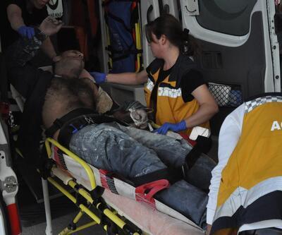 Mobilya işçisi yüksek gerilim hattına kapıldı
